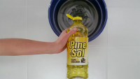 Kelli Shane hand models for Pine-Sol Commercial (Fridge Spot)